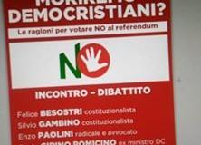MORIREMO DEMOCRISTIANI ? IL 5 DICEMBRE SI O NO AL REFERENDUM…?